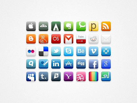 006 big1 Top 40 Must Have Social Media Icon Sets from 2013