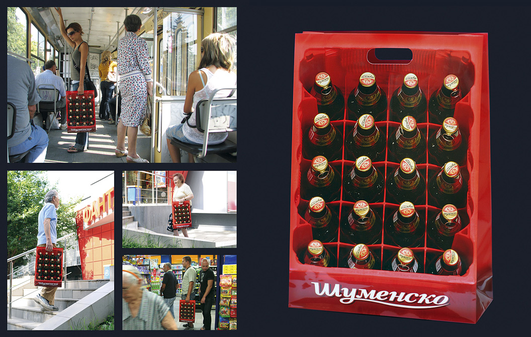 Shumensko Beer Crate Guerilla Marketing Examples