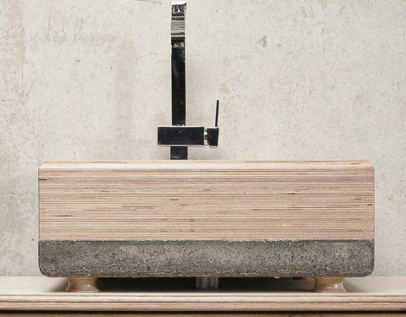 ConcreteWood Sink by WertWerke