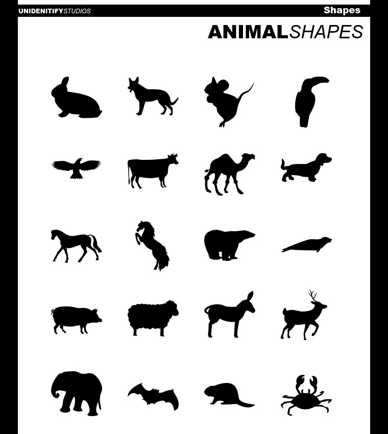 20 animal shapes for photoshop by unidentifystudios1 2500+ Free Custom Photoshop Shapes
