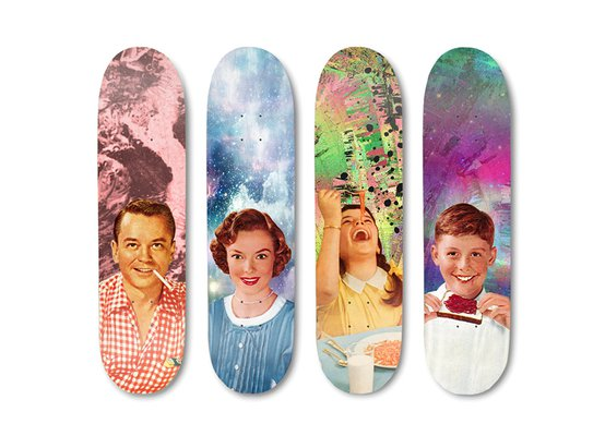 Skateboard Decks by Nicholas Thompson