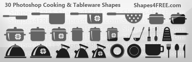30 photoshop shapes cooking lg1 2500+ Free Custom Photoshop Shapes