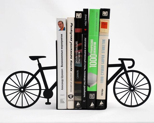 My bike bookends