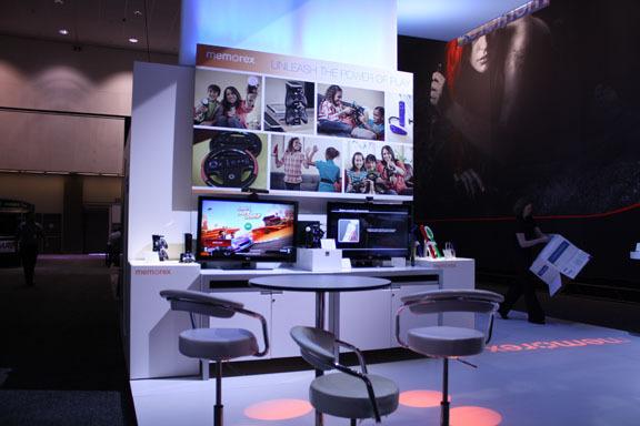 Memorex Trade Show Booth Design