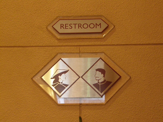 Toilet Sign in Melia Hotel, Hanoi