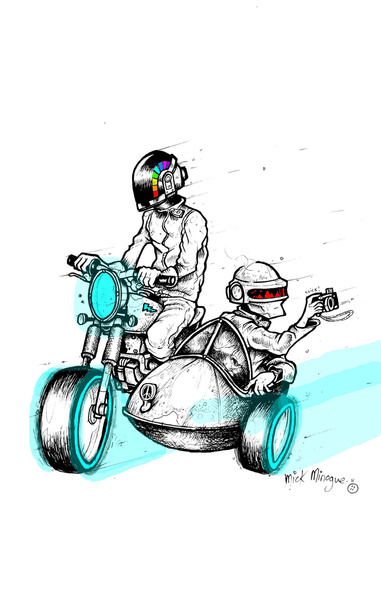 A Daft Punk Getaway by Mick Minogue