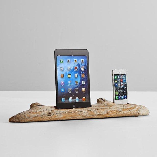 Driftwood iPhone 5 & iPad mini Dock