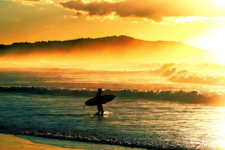Sunrise surf.