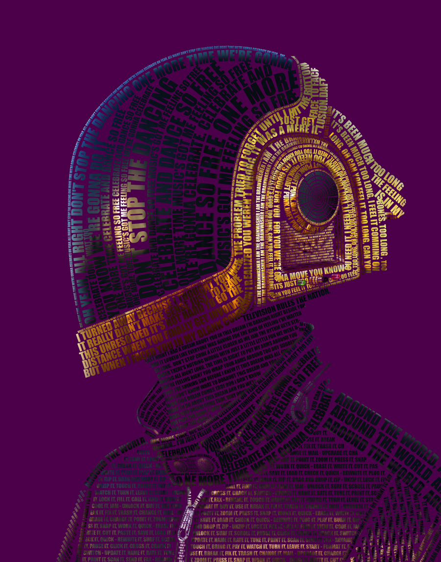 3d7fa0aeb4ace70f529a5474222d225b1 A Tribute: 40 Awesome Daft Punk Artworks
