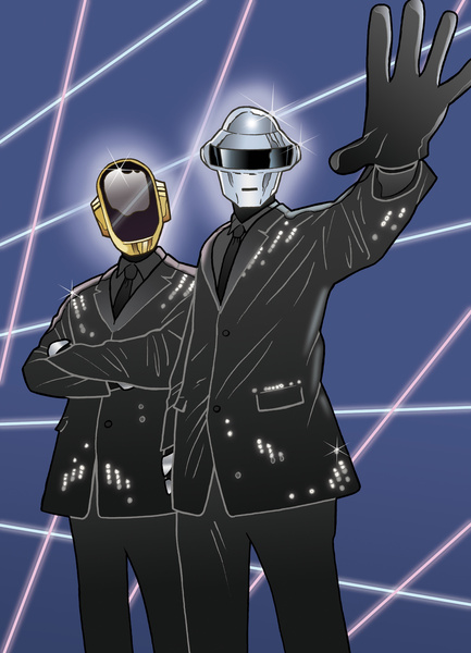 4576152 12052516 lz1 A Tribute: 40 Awesome Daft Punk Artworks