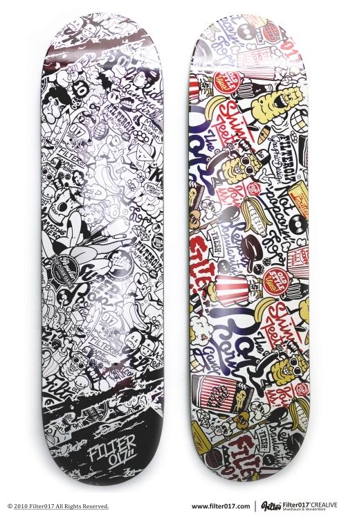 Fiilter017 X Deckpeck Skateboard