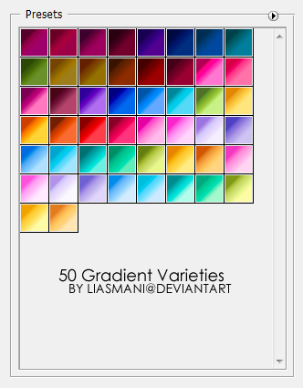 50 gradient varieties by liasmani1 18 Free Photoshop Gradient Sets