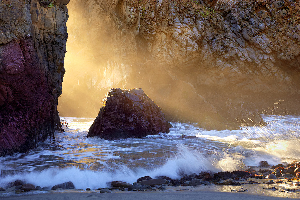 Sunburst - Pfeiffer State Beach, California