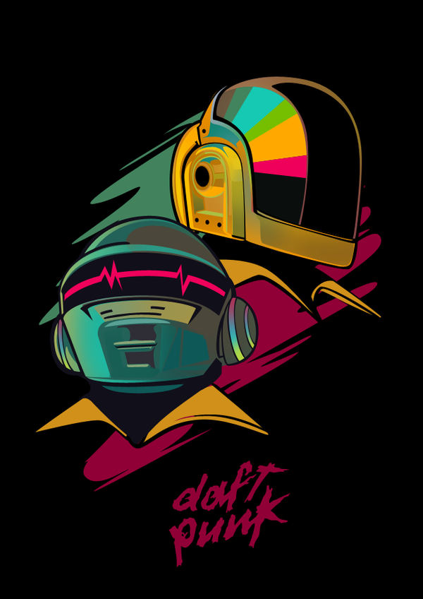 6845f9036a770b9d91026048d8503d141 A Tribute: 40 Awesome Daft Punk Artworks