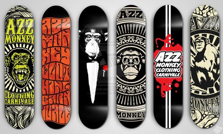 Skateboard designs.