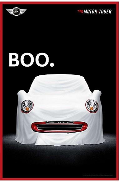 Mini Cooper ad for Halloween: Boo!