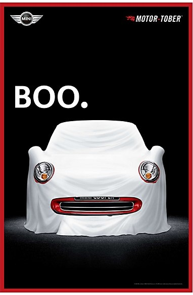 Mini Cooper ad for Halloween: Boo!