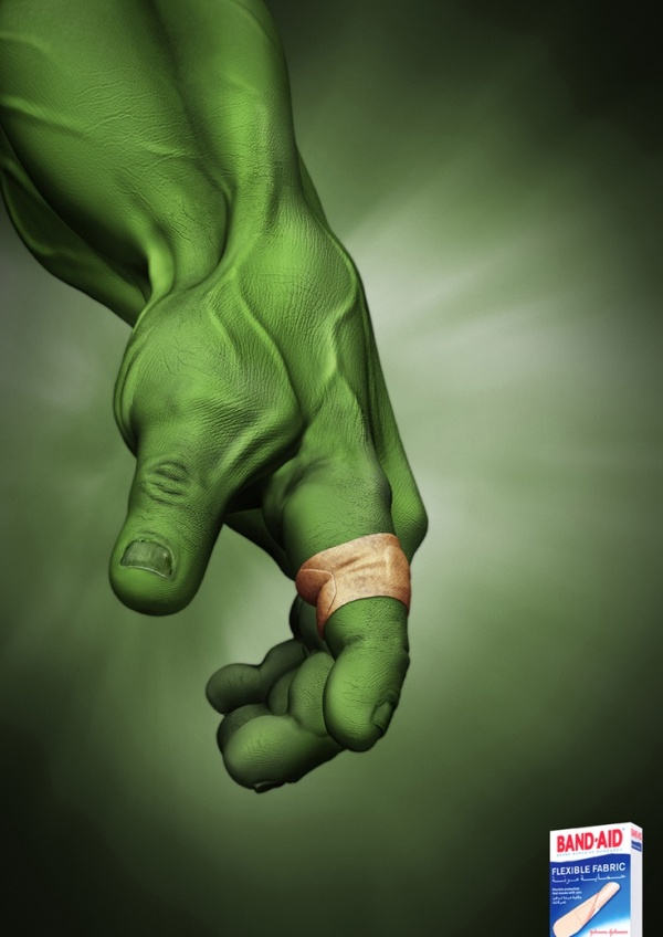 Even the Incredible Hulk sometimes needs a Band-Aid