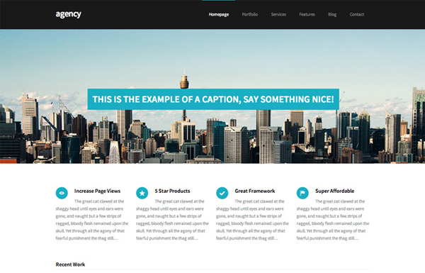agency 20 Minimal Wordpress Themes by Authentic Themes