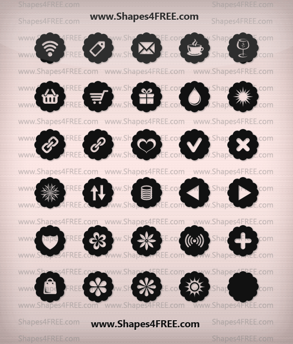 badge icons lg021 2500+ Free Custom Photoshop Shapes