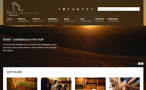 belief 20 Excellent Wordpress Themes for Churches
