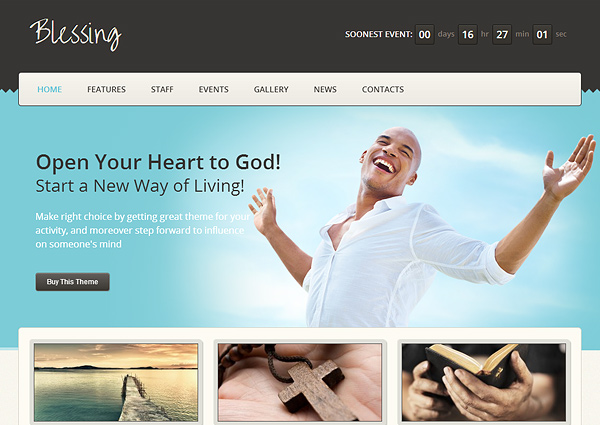blessing 20 Excellent Wordpress Themes for Churches