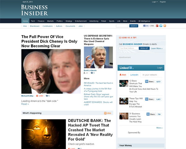 businessinsider Beauty of the Web: 60 Amazing Blog Designs