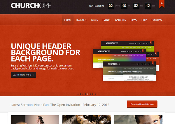 church hope 20 Excellent Wordpress Themes for Churches