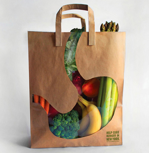 city harvest help cure hunger in new york1 25 Creative Shopping Bag Advertisements