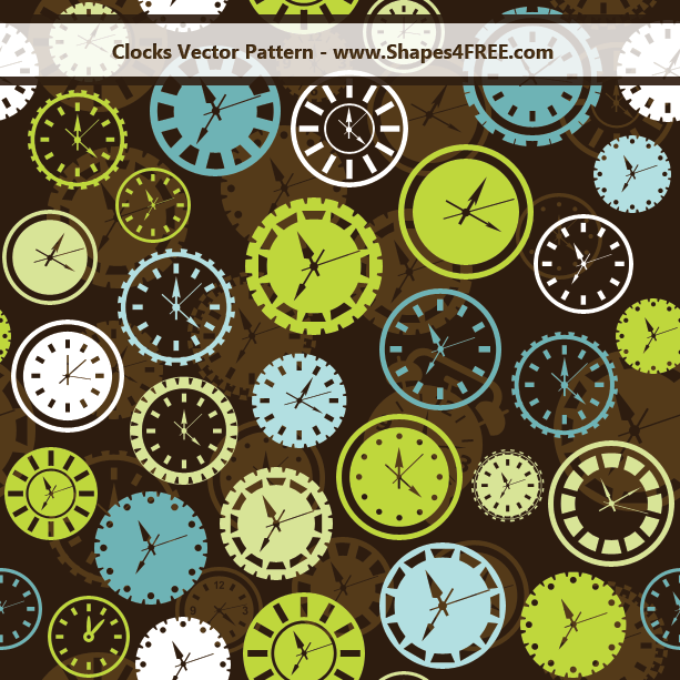 clocks vector pattern lg1 2500+ Free Custom Photoshop Shapes