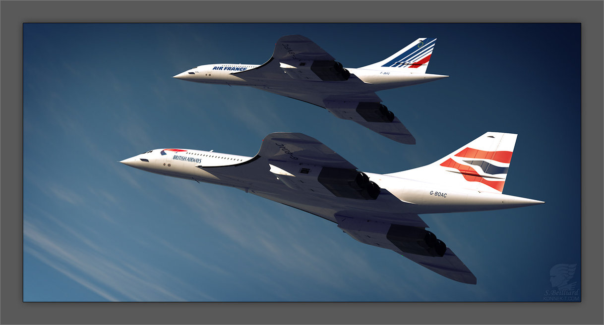 concorde   duo by inuksuk1 50 Beautiful Examples of Aviation Photography