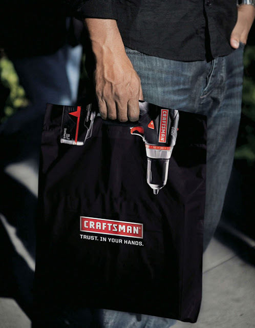 craftsman tools drill bag1 25 Creative Shopping Bag Advertisements