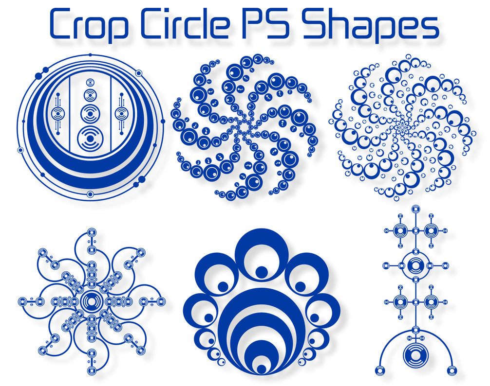 crop circle ps shapes by retoucher070301 2500+ Free Custom Photoshop Shapes