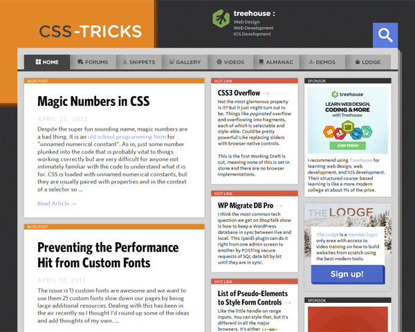 css tricks Beauty of the Web: 60 Amazing Blog Designs