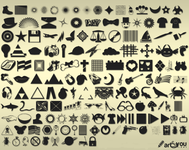 custom shapes pack by truemisha d3cntyh1 2500+ Free Custom Photoshop Shapes