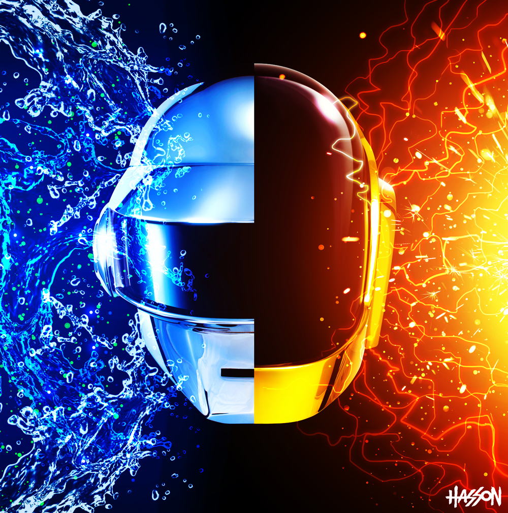 daft punk full1 A Tribute: 40 Awesome Daft Punk Artworks