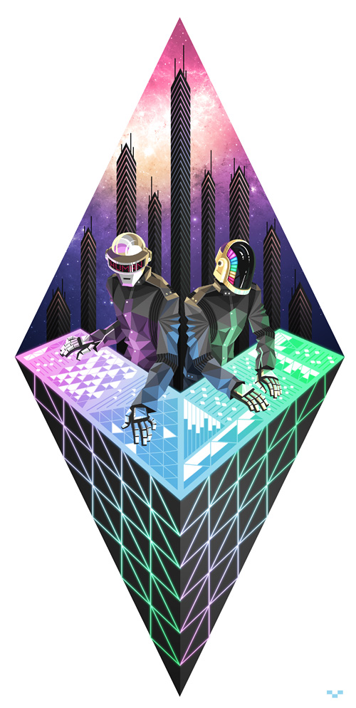 daft punk by ap6y3 d5xlj551 A Tribute: 40 Awesome Daft Punk Artworks