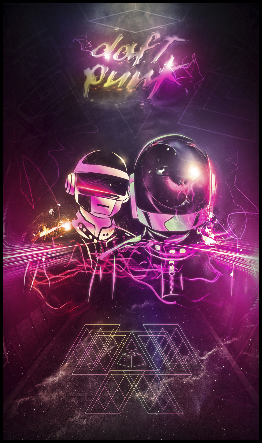 daft punk love by bosslogic1 A Tribute: 40 Awesome Daft Punk Artworks