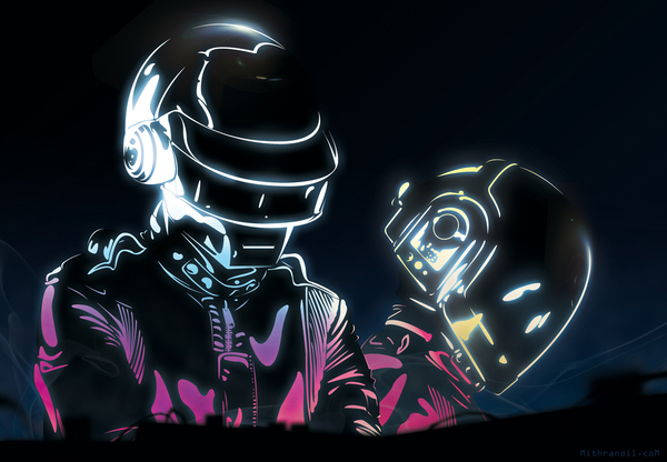 dba5a739ff0ec6117ed297076fe319de1 A Tribute: 40 Awesome Daft Punk Artworks