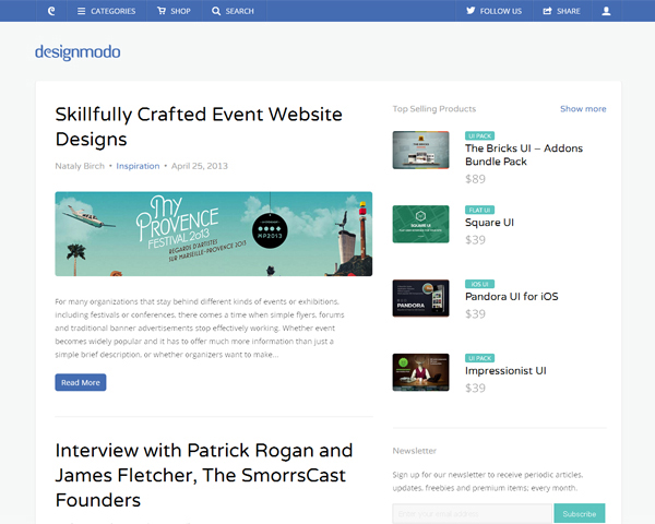 designmodo Beauty of the Web: 60 Amazing Blog Designs