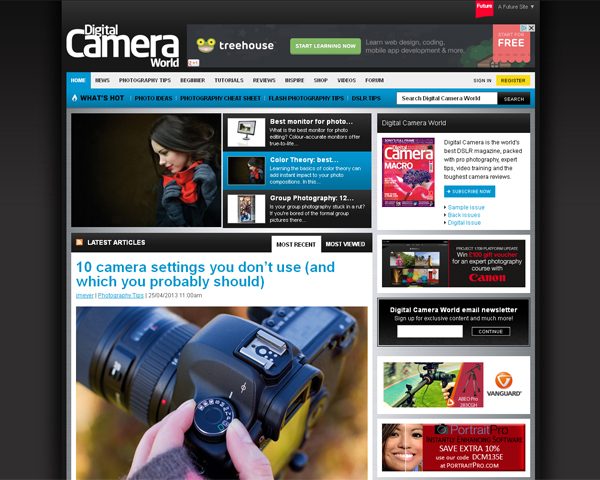 digital camera world Beauty of the Web: 60 Amazing Blog Designs