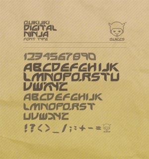 Digital Ninja Font Type By Quiccs