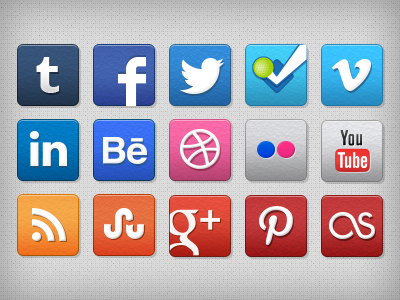 dim7chord dribbble stucco social icons1 Top 40 Must Have Social Media Icon Sets from 2013