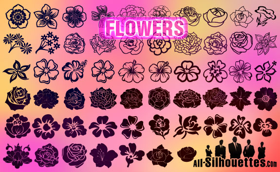 download vector flower1 2500+ Free Custom Photoshop Shapes