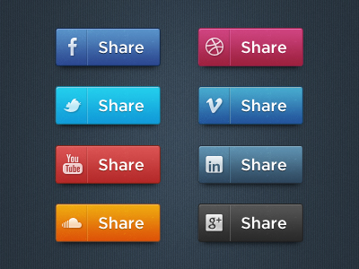 dribbble1 Top 40 Must Have Social Media Icon Sets from 2013