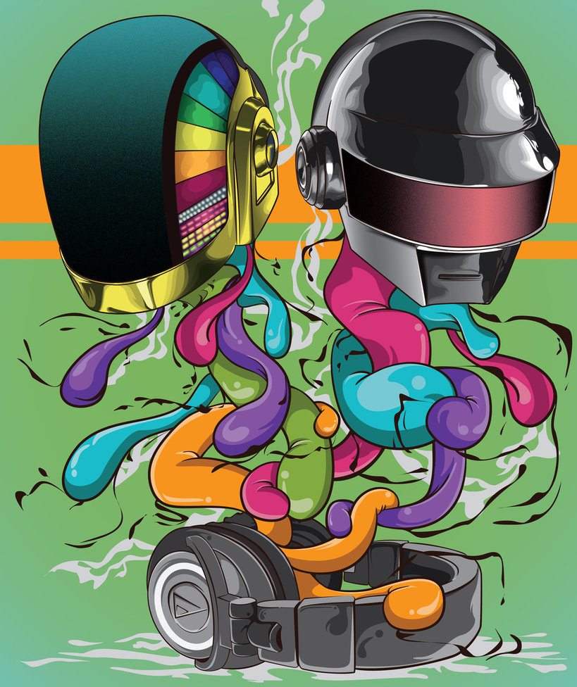 eargasm by francorreajomar d66jebu1 A Tribute: 40 Awesome Daft Punk Artworks