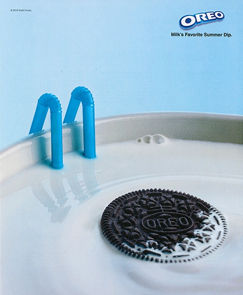 The perfect summer swimming pool - Oreo and milk