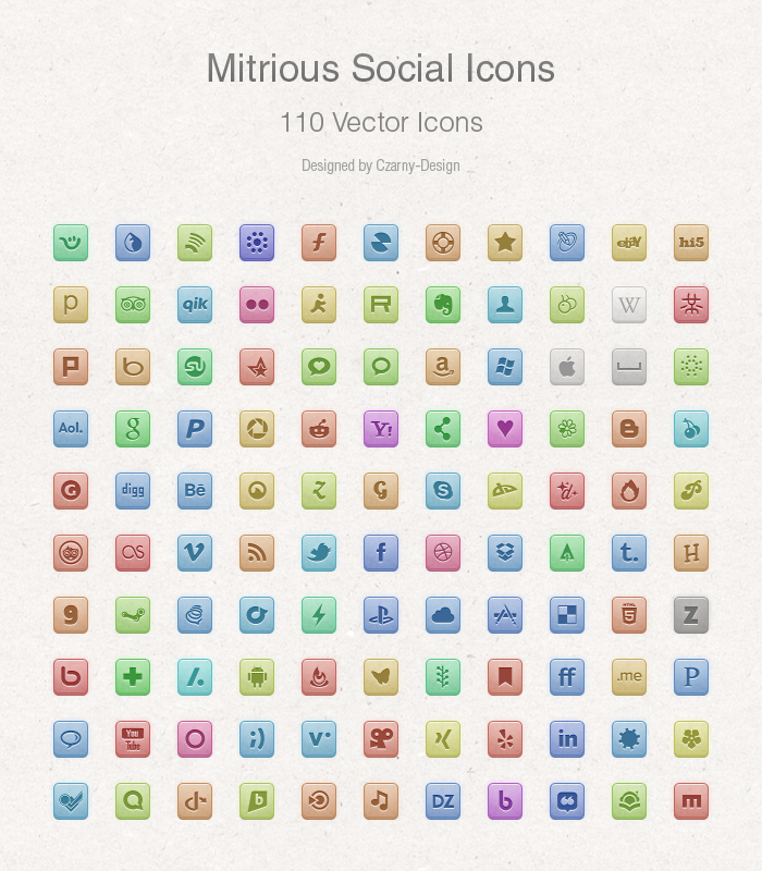 free social media icons by czarny design d4pgcy11 Top 40 Must Have Social Media Icon Sets from 2013