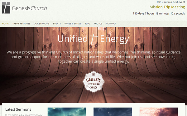 genesischurch 20 Excellent Wordpress Themes for Churches