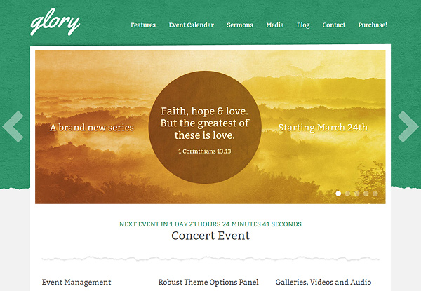 glory 20 Excellent Wordpress Themes for Churches